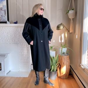 PM Editor Share! Gorgeous Vintage Wool & Fur Coat